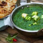 Palak Paneer Indian vegetarian curry with spinach sauce